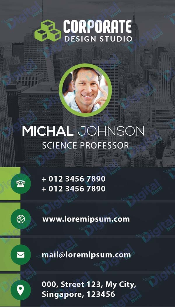 Digital business card for tutors