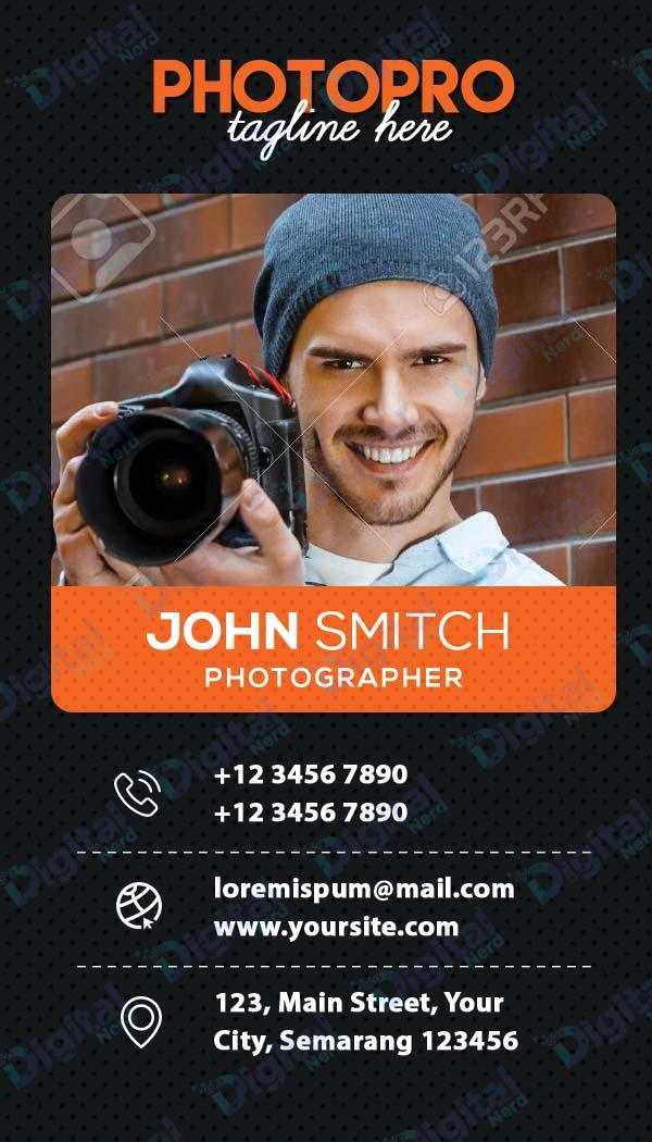 Digital business card for photographer