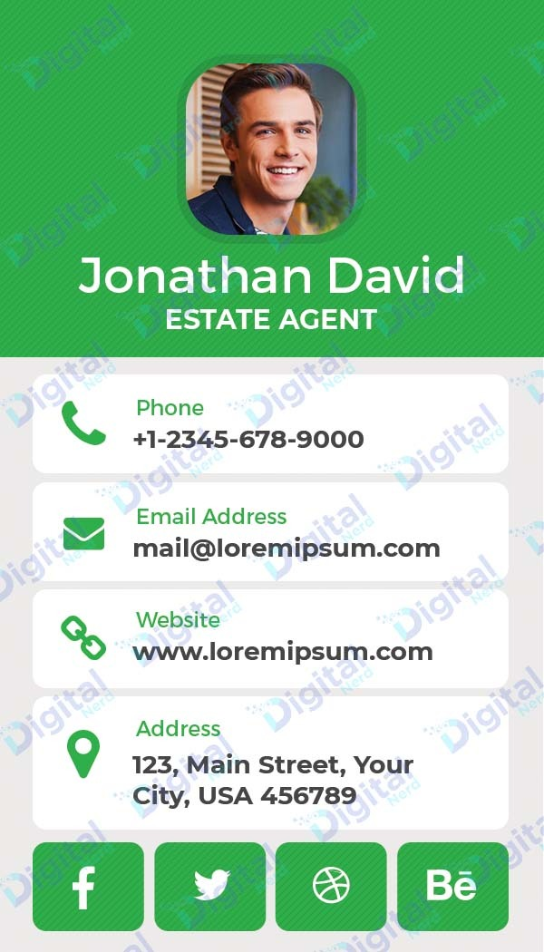Digital business card for real estate