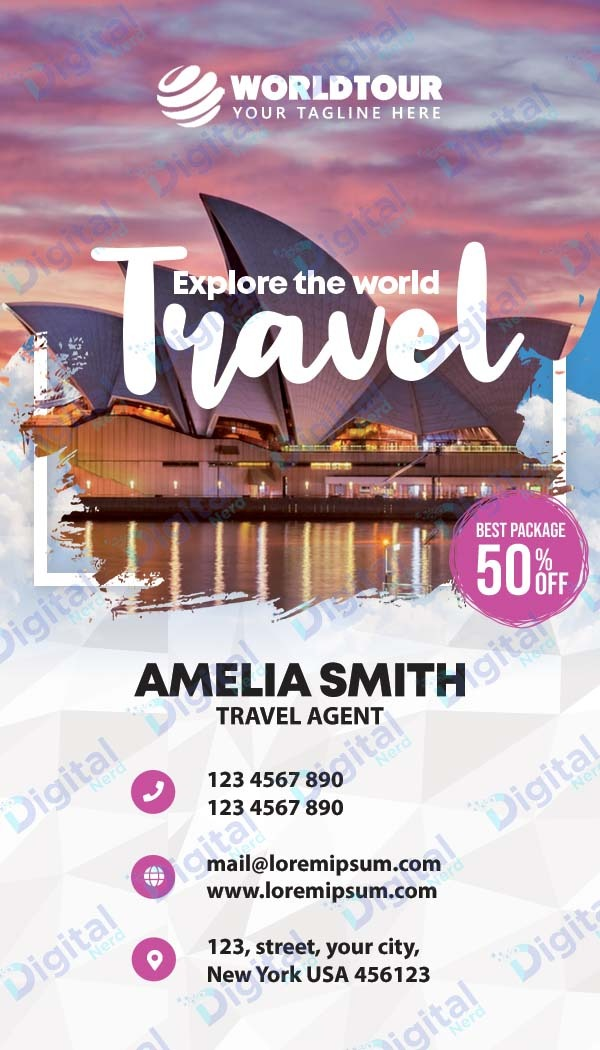 Digital business card for travel agent
