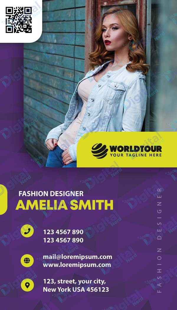 Digital business card for fashion industry