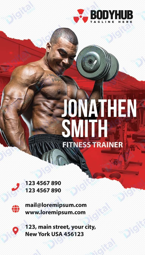 Digital business card for fitness industry