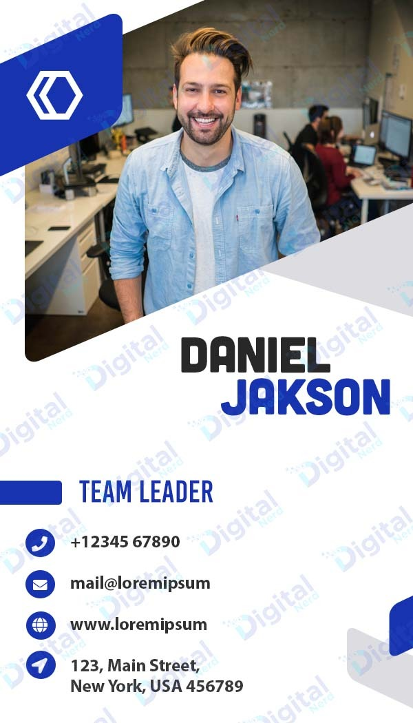 Digital business card for corporate