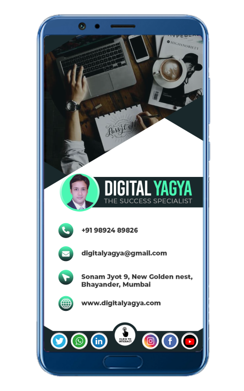 Professional digital business card